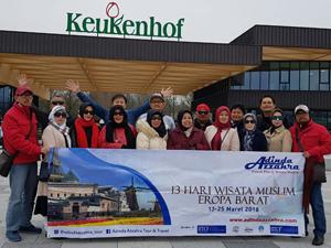 peserta tour eropa barat keukenhof