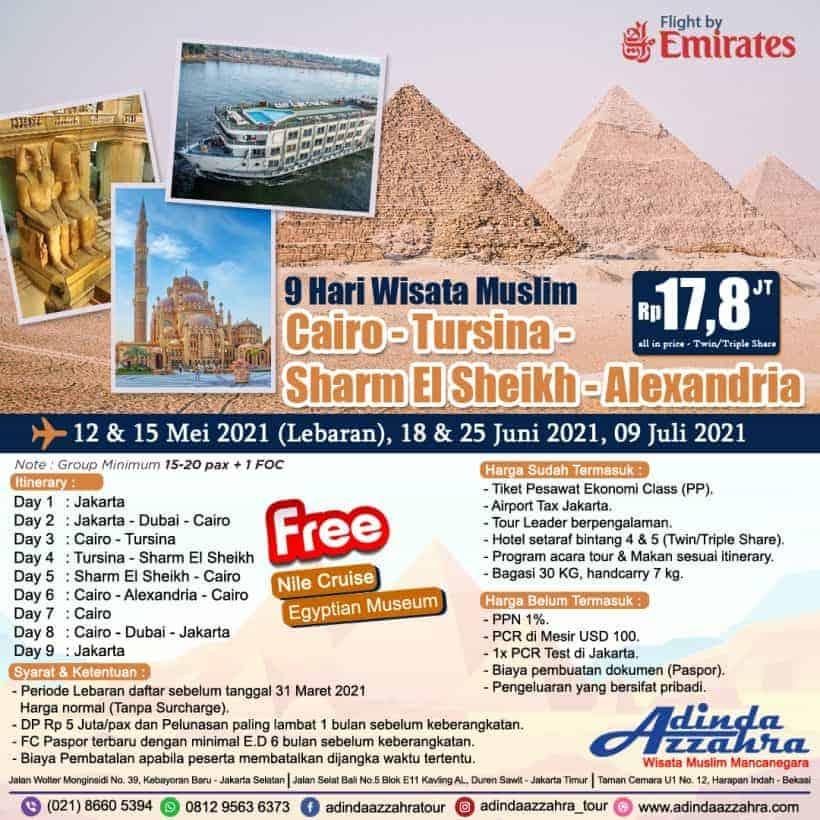 9 hari Mesir Lebaran