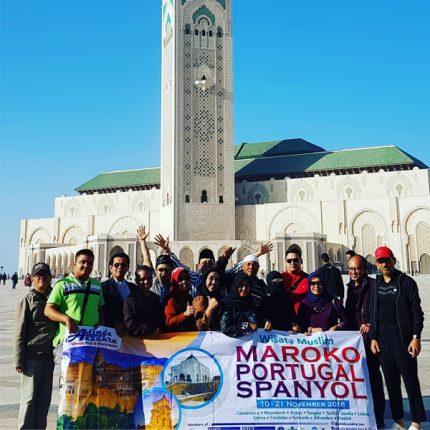 Peserta Tour Masjid Hasan II Maroko