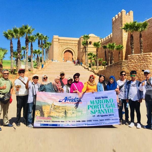 Peserta Wisata Halal Maroko Portugal Spanyol