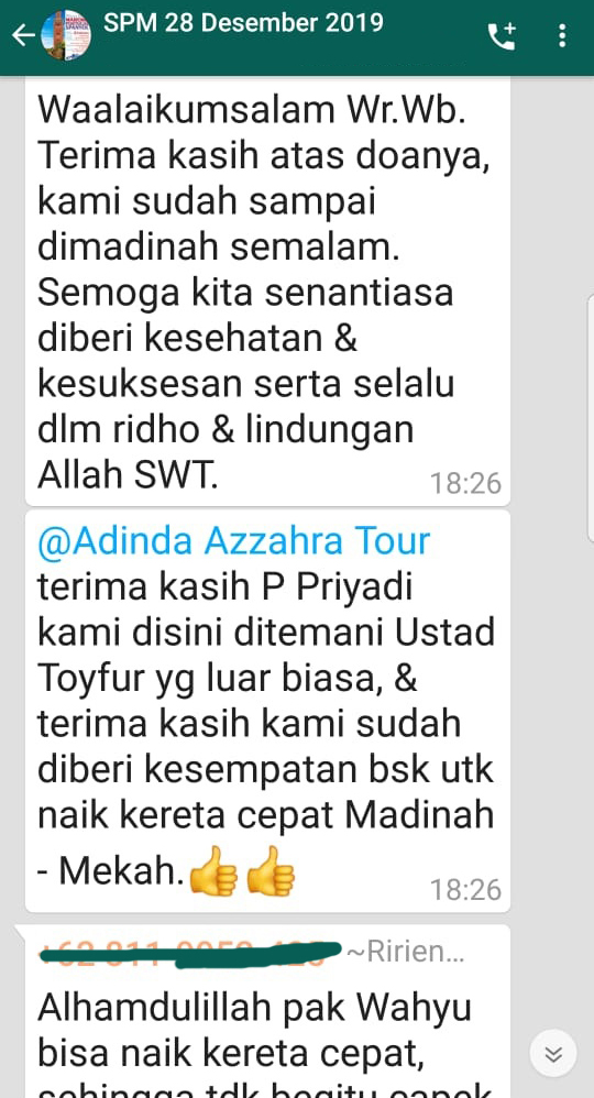 Peserta Tour Wisata Muslim SPM